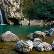 Агурские водопады в Агурском ущелье фотографии