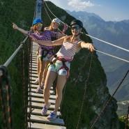 Подвесной мост на курорте «Роза Хутор» 2020 фотографии