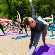 Международный день йоги на «Роза Хутор» 2019 фотографии