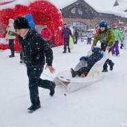 «День снега» на курорте «Горки город» 2018 фотографии