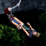 Юбилейный банджи-прыжок в «Скайпарке» 2018 фотографии