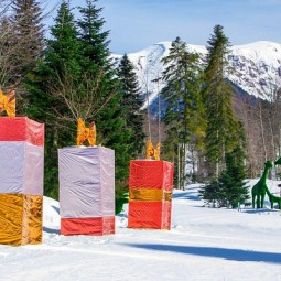 Фестиваль резьбы по снегу «Снежная Поляна» 2019