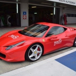 Гоночное такси Ferrari 458 Italia 2017