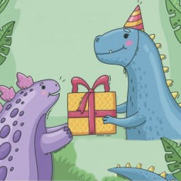 День рождения динозавра Гаса на курорте «Газпром» 2021