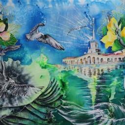 Выставки работ династии Лещенко «Батик»