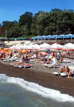 Пляж гостиницы «Жемчужина»