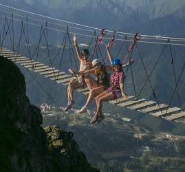 Подвесной мост на курорте «Роза Хутор» 2020