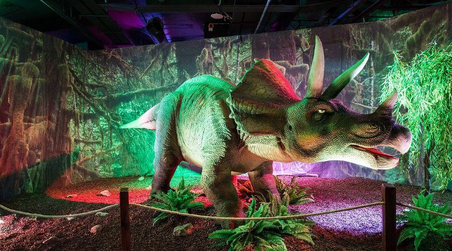 Выставка роботизированных динозавров вСочи Парке