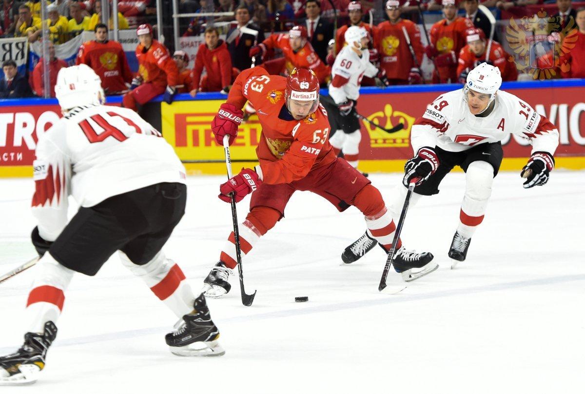 Хоккейный матч «Россия– Швейцария. Еврочеллендж» 2019