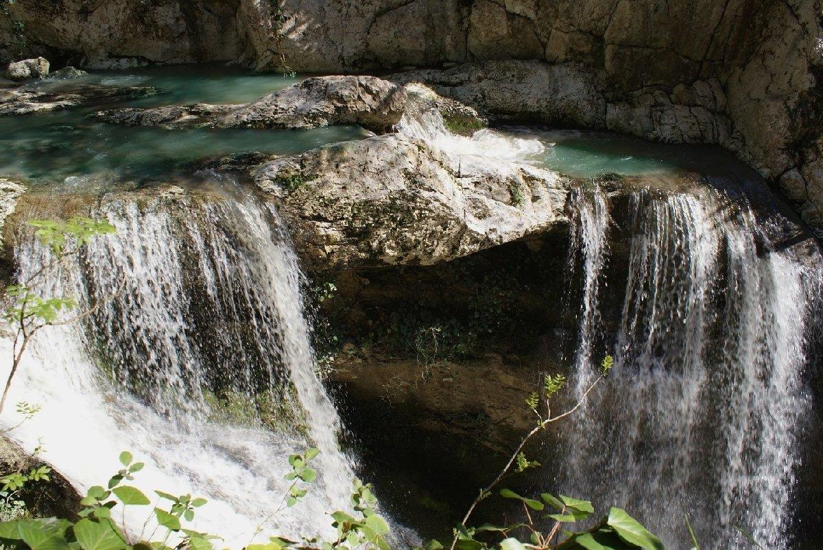 Агурские водопады вАгурском ущелье