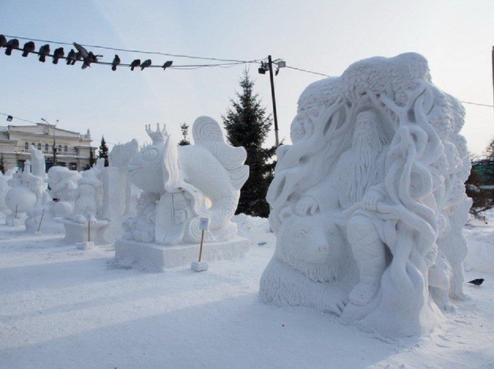 Фестиваль резьбы поснегу «Снежная Поляна» 2019