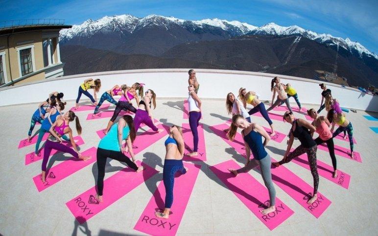 Международный день йоги на«Роза Хутор» 2018