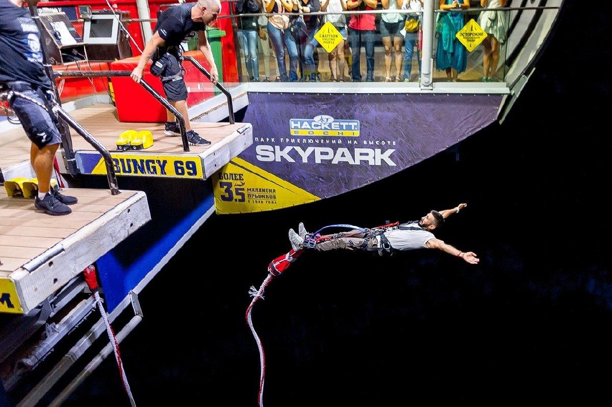 Юбилейный банджи-прыжок в«Скайпарке» 2018
