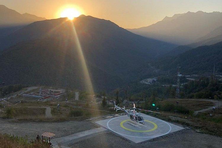 Пассажирский горный «Вертолетный центр» накурорте «Роза Хутор» 2020
