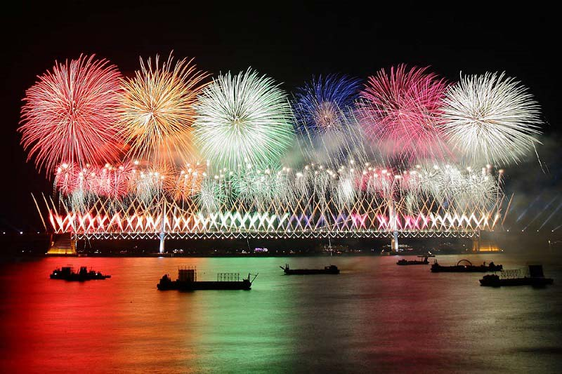 «Парад фейерверков» вОлимпийском парке 2021