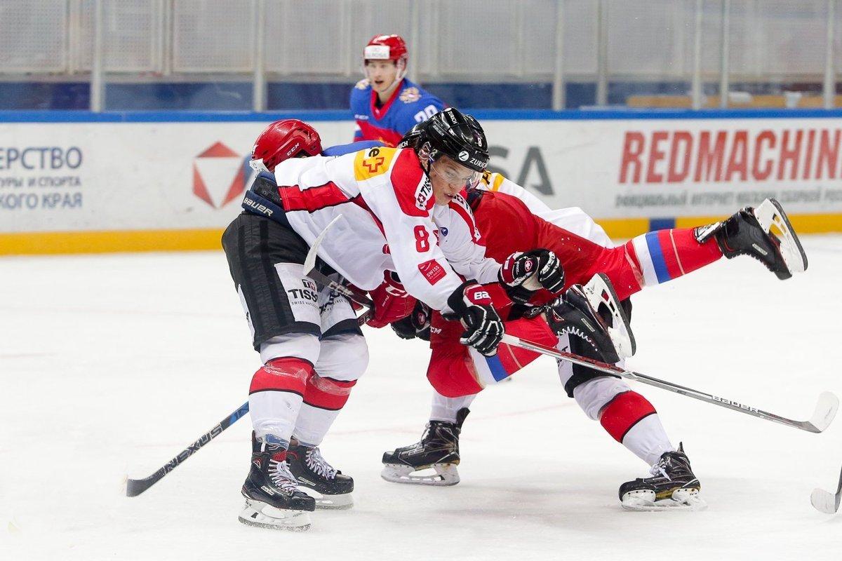 Хоккейный матч «Россия– Латвия. Еврочеллендж» 2020