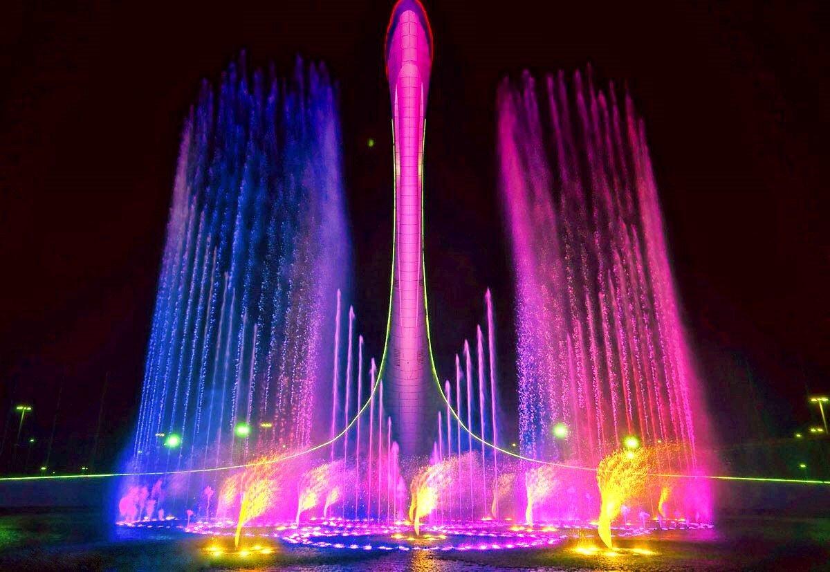 Поющие фонтаны вОлимпийском парке