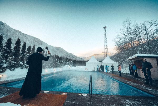 Крещенские купания накурорте «Газпром» 2020